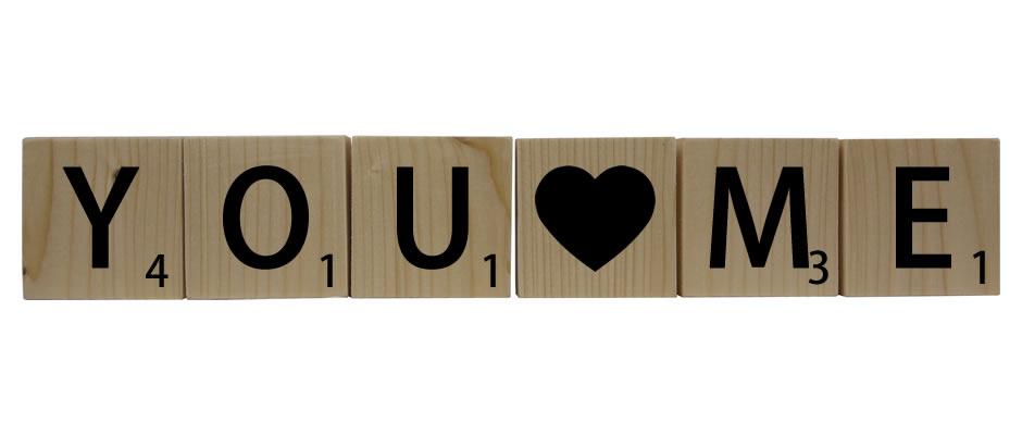Letterblokken sinterklaas - you love me