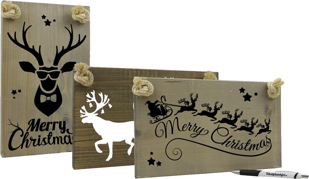 Tekst op hout voor kerst