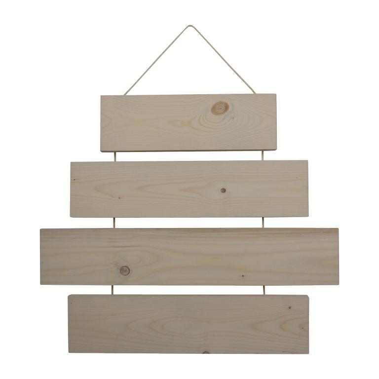 Tekstbord of wandbord - tekst op hout met touw