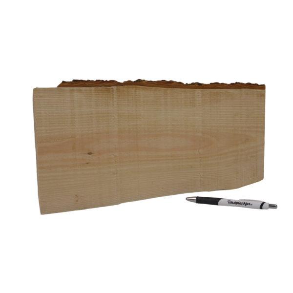 Tekst op boomstam hout liggend zonder touw