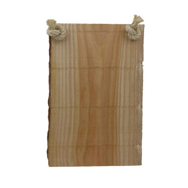 Tekst op boomstam hout staand excl touw