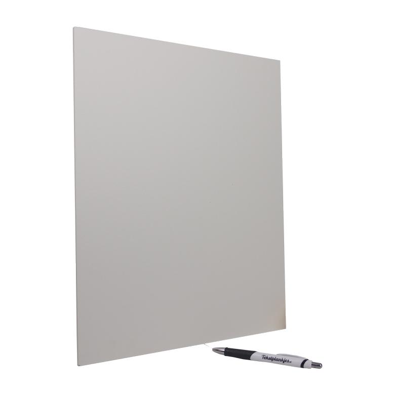 Tekstbord tekst op hout 40x30 wit
