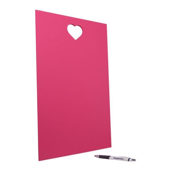 Tekstbord tekst op hout 50x30 hart roze