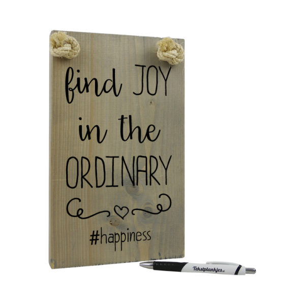 Find joy in the ordinary #happiness
