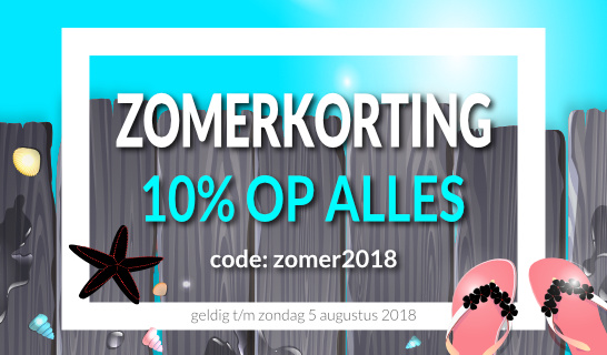 Tekst op hout zomerkorting 2018 - 10%