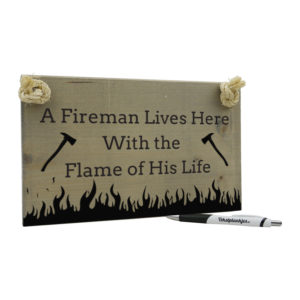 A fireman lives here with the flame of his life