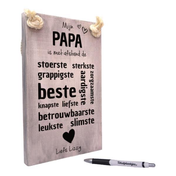 origineel cadeau vader - vaderdagcadeau -cadeau papa - mijn papa is met afstand de beste papa van allemaal