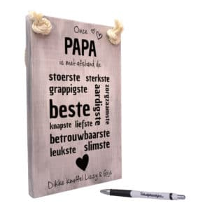 origineel cadeau vader - vaderdagcadeau -cadeau papa - onze papa is met afstand de beste papa van allemaal