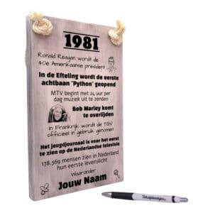 origineel cadeau 40 jaar verjaardag - verjaardagscadeau geboren in 1981