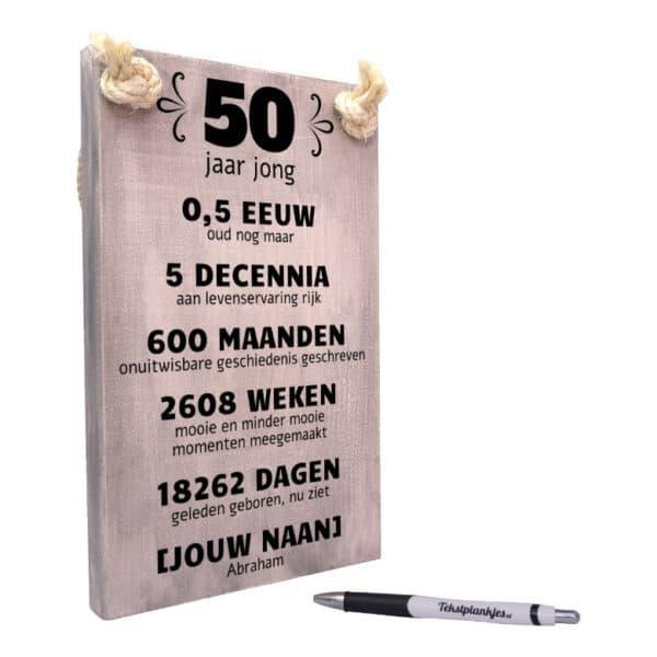 origineel persoonlijk verjaardagscadeau sarah 50 jaar
